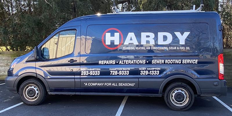 Hardy Plumbing and Heating Truck