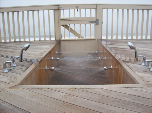 Outdoor Showers and Water Fixture Repairs on Long Island, NY